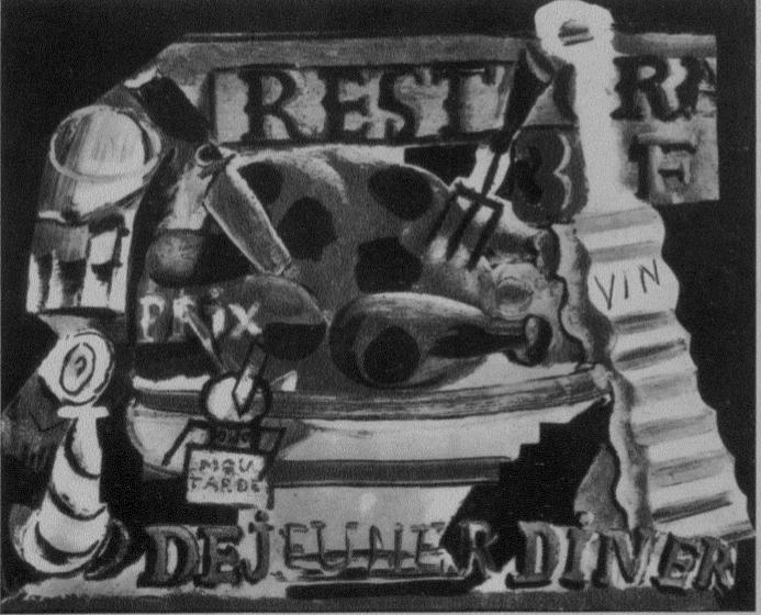 """Picasso's """"Restaurant Still Life"""" (1912)"""