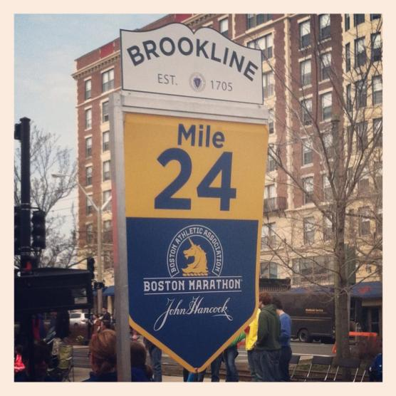 April 15: The morning of Marathon Monday in Brookline