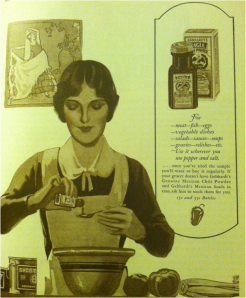 Gebhardt's chili powder advertisement from 'The Saturday Evening Post,' March 15, 1930