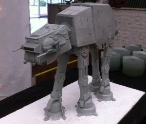 The groom's cake my husband would want had we had it to do over again; AT-AT cake by Cake Central member ChrisThe Cook