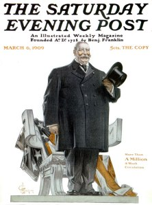 President Taft, as depicted by JC Leyendecker in the Saturday Evening Post, 6 March 1909