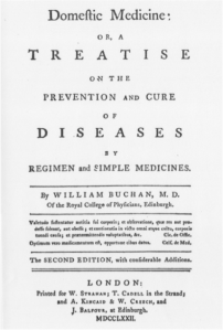William Buchan's Domestic Medicine contained a plethora of medical information, including a section on the health of the studious.