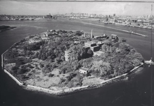 North Brother Island where Mary Mallon was held in isolated quarantine for 26 years.