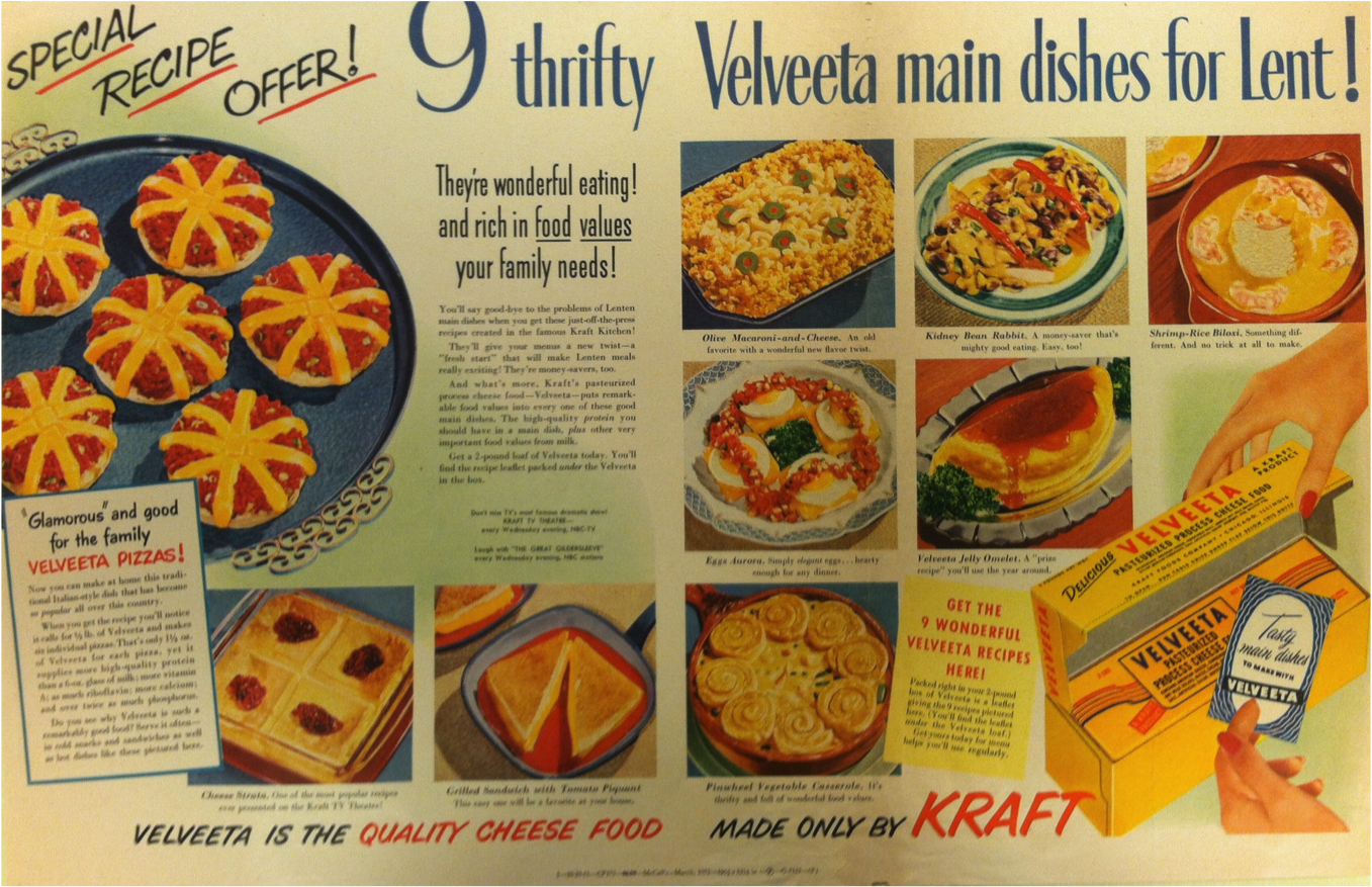 Archive adventures 1 the oh so glamorous world of velveeta cheez among these nine thrifty velveeta main dishes for lent are glamorous and good forumfinder Gallery