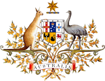 Coat of arms of Australia, adopted 1912.