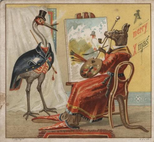 The Artist: Gibbs, Shallard & Co, Christmas card, 1883.