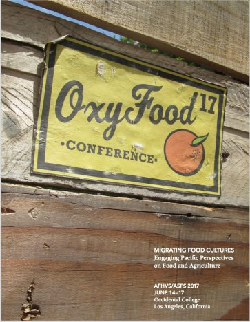 Oxy Food 17 Program, design: Alyssa Lang