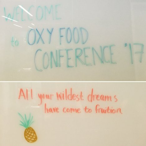 Johnson Hall wall message, photo: Emily Contois